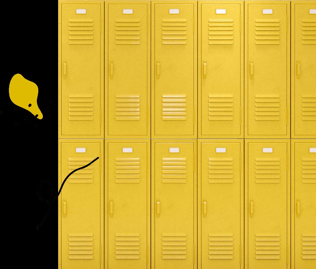 yellow-high-school-lockers