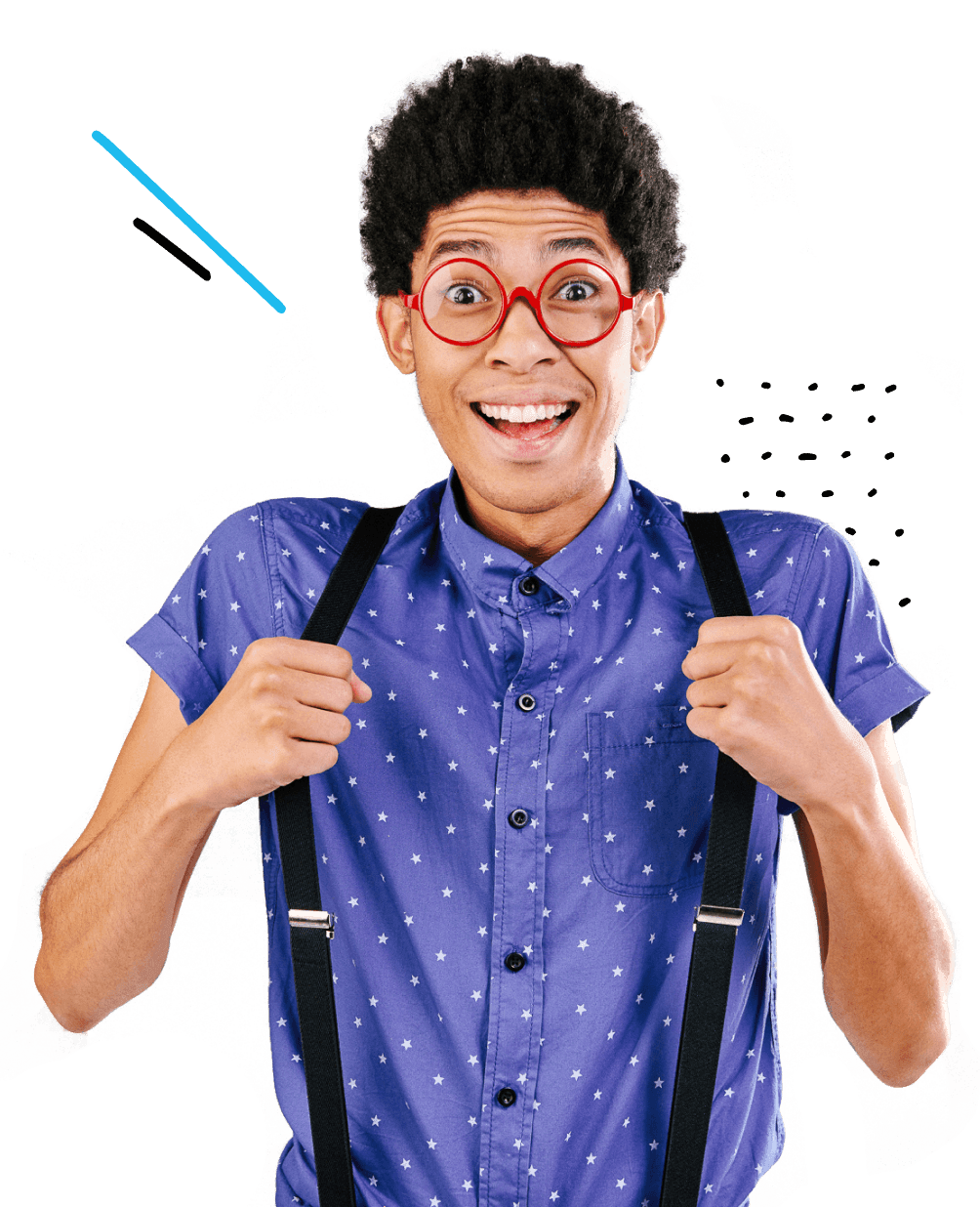 enthusiastic-male-student-wearing-glasses-and-suspenders